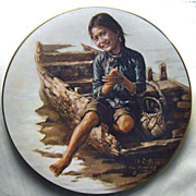 "SALE ""Sampan Girl"" Children of Aberdeen Series Plate - 1980"