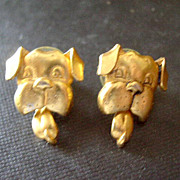 JJ Jonette Jewelry - Goldtone Dog Head Earrings