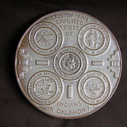 SALE Frankoma Pottery - Five Tribes of Indians in Oklahoma