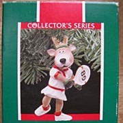 "HALLMARK Ornament - ""Reindeer Champs"" - 1989"