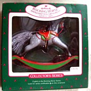Hallmark Rocking Horse Handcrafted Ornament - 1988