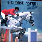"""The Horse in Sport"" - 1989 Full Color Wall Calendar"