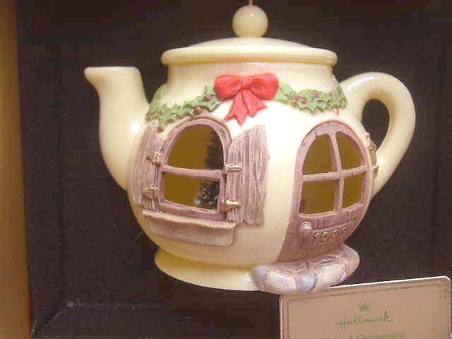 "Hallmark ""A Spot of Christmas Cheer"" Teapot Ornament - 1980"