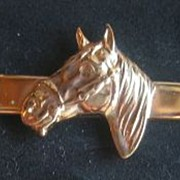 Hickok Goldtone Horsehead Tie Bar