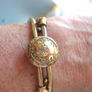 Victorian Gold Filled Hinged Cross-over Bracelet - Pat. Dec. 16, 1879