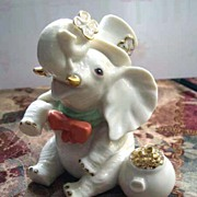 LENOX Lucky Little Elephant Figurine with Pot of Gold