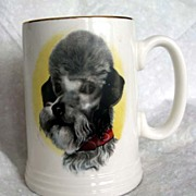 AT AUCTION Poodle Dog on Mug or Stein - Lord Nelson Pottery, England