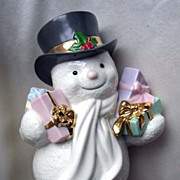 "LENOX - ""Special Delivery"" Snowman - retired!"