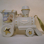 LENOX Annual Toys for Tots Train Ornament with Box - 2002
