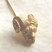 SALE Mimi di N (Mimi di Niscemi) Ram's Head Stick Pin