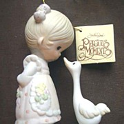 Enesco Precious Moments Girl with Goose