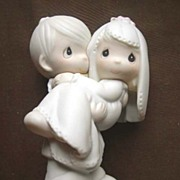 Enesco Precious Moments Groom Carrying Bride