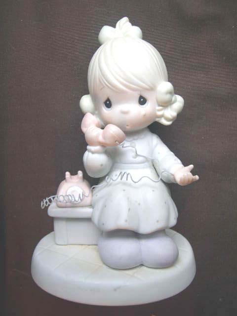 Enesco Precious Moments Girl with Telephone