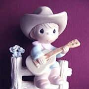 Enesco Precious Moments Hallelujah Country Cowboy Figurine