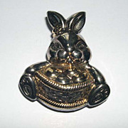 Bunny Rabbit and Easter Basket Pin and Slide
