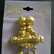 "SALE Enesco Precious Moments ""Love One Another"" Classic Lapel Pin"