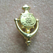 Vintage Avon Calling Door Knocker Pin