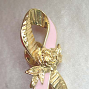Avon Pink Ribbon Cancer Awareness Tac Lapel Pin