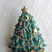 SALE AGC American Greeting Cards Christmas Tree Tac Pin - Book Piece