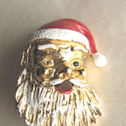 Vintage Gerry's Full Santa Face Pin