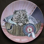 Hamilton Collection First Prize Kitten Cat Classics Plate