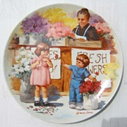 "Knowles China ""The Flower Arrangement""  Plate - 1986"