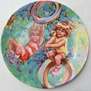 "SALE Wedgwood ""Riding High"" Plate by Mary Vickers - 1986"
