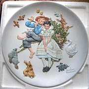 "Norman Rockwell ""Spring - Sweet Song So Young"" Limited Edition Plate - 1973"