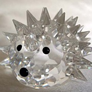 SWAROVSKI Crystal  Large Hedgehog Figurine
