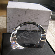 Swarovski Crystal 1998 Pegasus Paperweight Retired