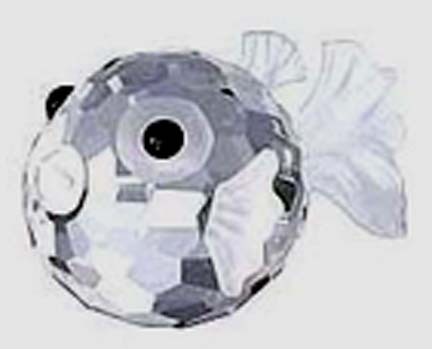 "Swarovski Crystal - ""Small Blowfish"" - Retired"