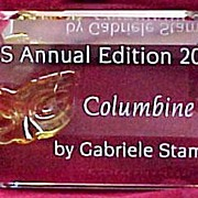 "Swarovski Crystal ""Columbine"" Title Plaque for 2000"