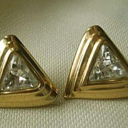 Swarovski Crystal Signed S.A.L. Earrings - 1980's