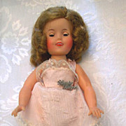 "SALE Vintage Ideal Shirley Temple 12"" Doll circa 1957"