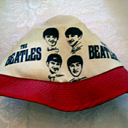 AT AUCTION Vintage Beatles' Red and White Beach Hat - 1964