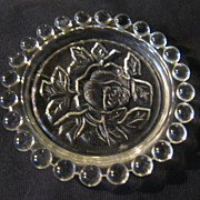 Six Crystal  Rose Coasters Made in The German Democratic Republic