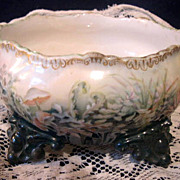 SALE Unusual 1902 Limoges France Footed  Ferner Jardiniere Planter