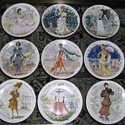 SALE LIMOGES D'Arceau Women of the Century Set of 7 Collector Plates