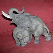 Mother Elephant and Baby Figurine by Andrea by Sadek - #7870