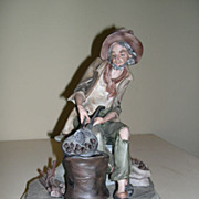 SALE Limited Edition Capodimonte Old Man Figurine Signed by Nico Venzo