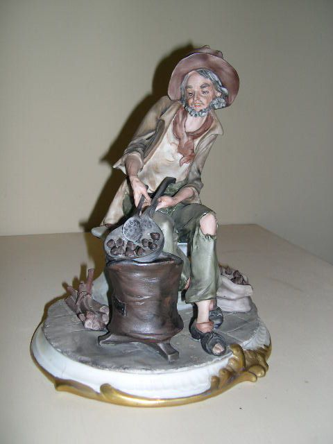 Limited Edition Capodimonte Old Man Figurine Signed by Nico Venzo