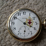 AT AUCTION Vintage Lady Waltham Pocket Pendant Watch with Bleeding Heart