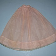 Vintage Long Pink Doll Slip - Small Waist - Blue Trim