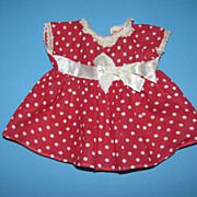 Vintage Polka Dot Dress - For Shirley Type Dolls