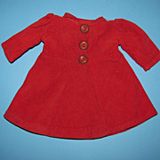 Red Corduroy Doll Dress/Coat