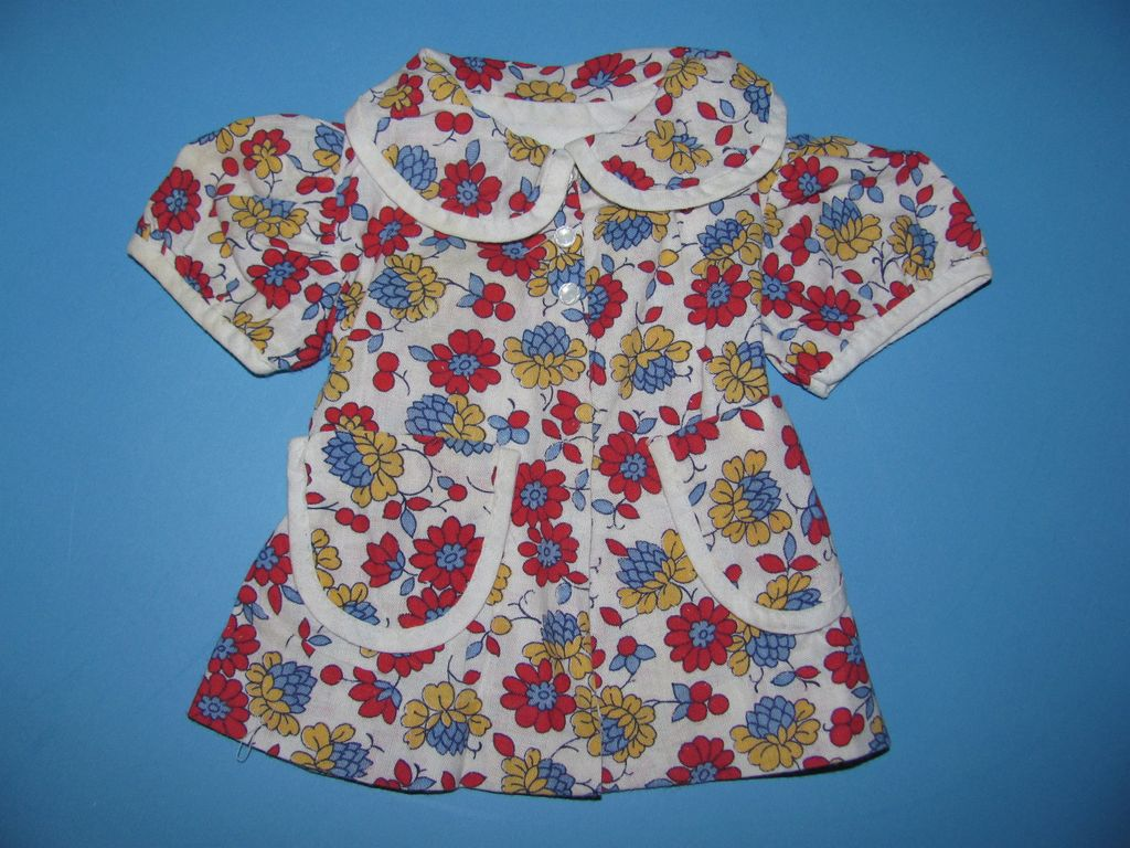 1940's Floral Print Doll Dress