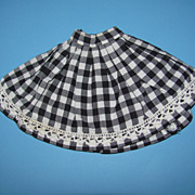 Black & White Check Doll Skirt