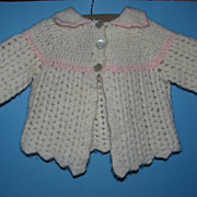 Chunky Knit Doll Sweater - Scalloped Edge