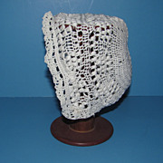 Fancy Crochet Doll Bonnet