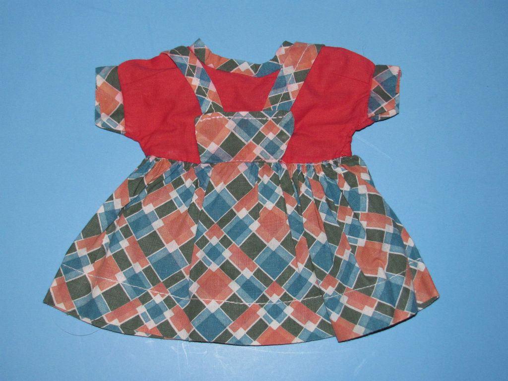 1940's Jumper Style Doll Dress